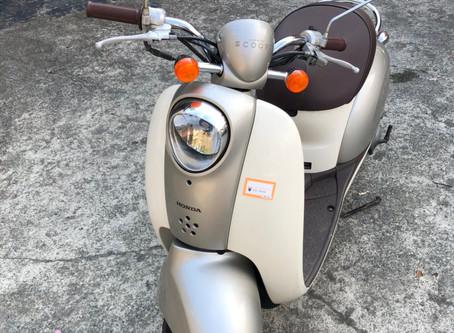 中古車バイク スクーピー 50cc ホワイト/ゴールド