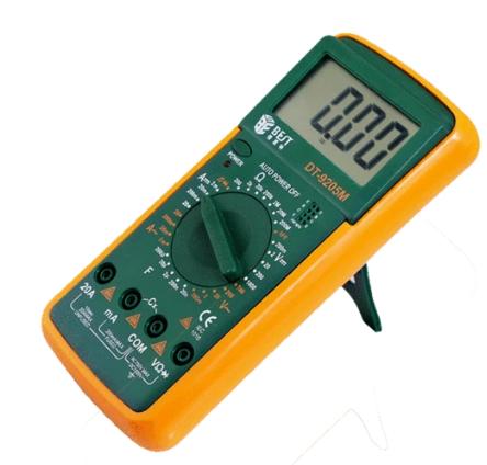 Multimetro Digital Best 9205M 1000V, 20A, 200M, 20Nf, Ce Y Rohs.
