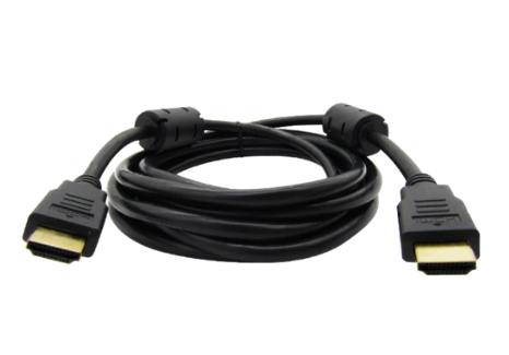 Cable HDMI V2.0 2160P 3M MACHO A HDMI MACHO NEGRO 4K 3D 19+1 28AWG OD 7.3MM C/FI