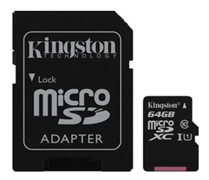 Memoria Micro SD 64GB Class 10 Kingston SDcs/64GB Con Adapt