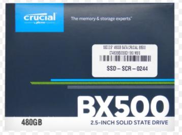DISCO DURO SSD 2.5 480GB SATA Crucial BX500 CT480BX500SSD1 560 MB/S