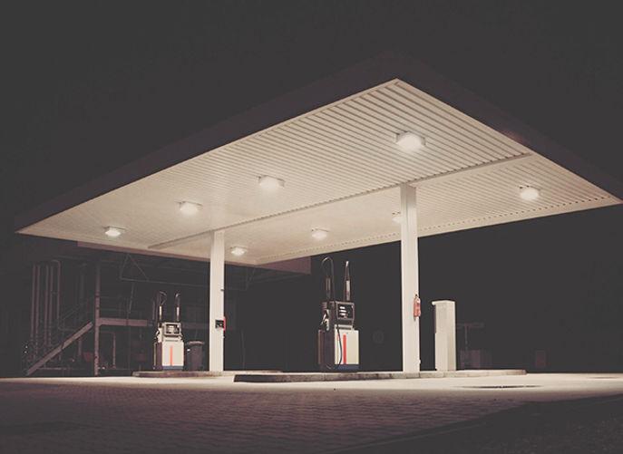 gas station remote control light