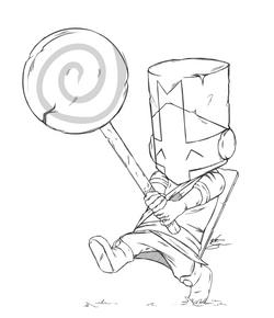 Pink Knight Sketch