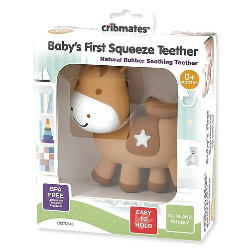 Baby's First Squeeze Teether Horse, Adorable squeaking horse teethe By Scholasti