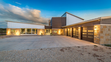 Contemporary style 3,700 square foot two story residence located in the LBJ Grasslands of Wise, County.