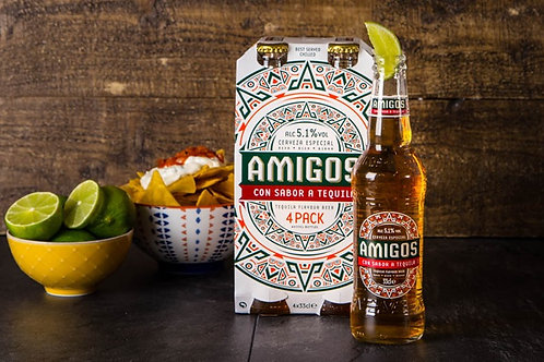 4-pack-Cerveza Amigos Tequila & Lime Taste