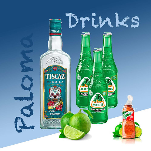 Paloma Drinks : Mix Tequila with Jarritos