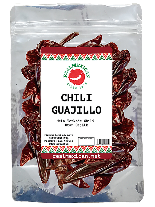 100g Chile Guajillo Seco / Dried Guajillo Chilli Mexico