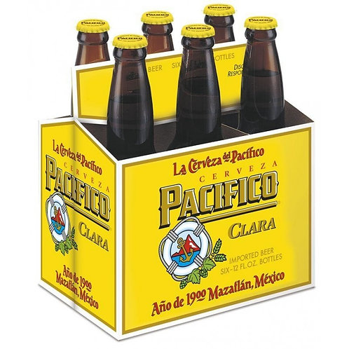 6-pck Cerveza Pacifico Clara 355 ml 4,5%