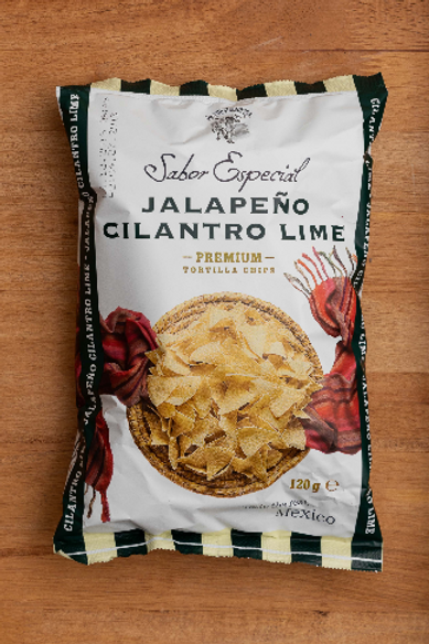 Jalapeño Cilantro Limón Masa - Premium Tortilla Chips 120g