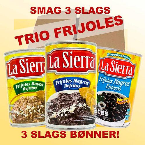Trio de Frijoles LA SIERRA med 10 Tortillas!