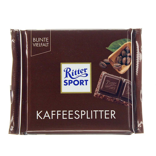 Coffee chips & Chocolate! by: RitterSport 100g