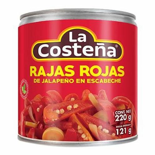 Rajas Rojas Jalapeño La Costeña 220g