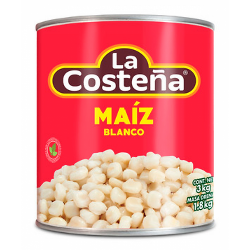 Maiz Pozolero Blanco 3 Kg