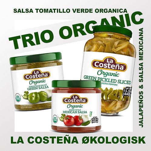 Trio Organico LaCosteña - Salsa Tomatillo - Salsa Mexicana - Jalapeños
