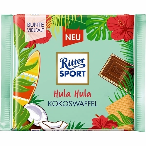 Mini Hula-hula! by: RitterSport-Coconut Wafer 16,67g