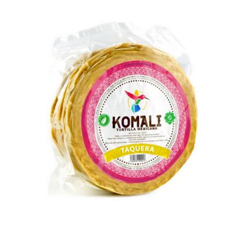 500g/12cm - 26 Tortillas Taquera Komali GMO/Gluten Fri