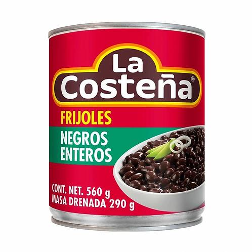 560g Frijoles Negros Enteros La Costeña