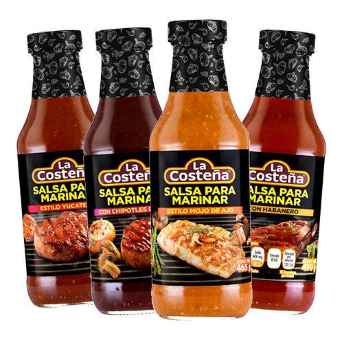 Real Mexican Grill Marinering Salsas La Costeña Kit