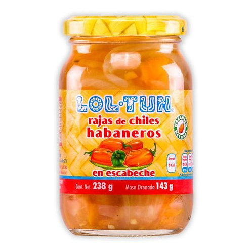 Lol-Tun Syltet Habaneros Chilier (hele) La Costeña 200g
