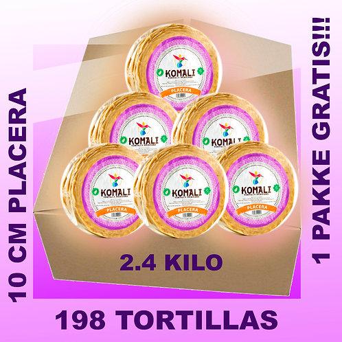 2.4 KILO PLACERA 6 X 400g / Ø10cm  - Tortilla Placera Komali GMO/Gluten Fri