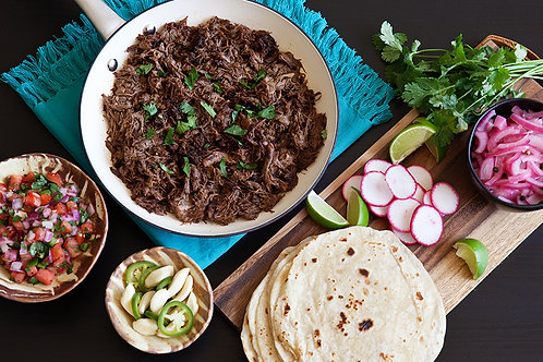 500g Mexican Suadero (Barbacoa Style Slow Cooked Pulled Beef)