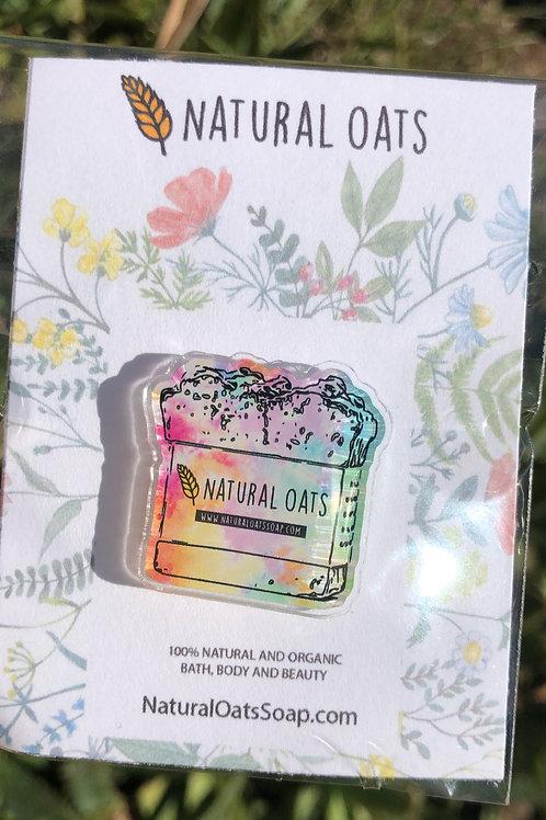 Signature Soap Acrylic Pin