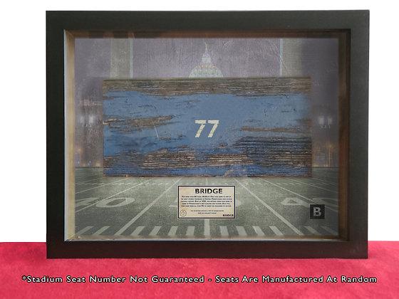 Former Bishop McDevitt Stadium -Repurposed Bleacher Shadow Box -Rare Collectible