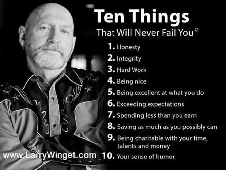 Ten Things That Will Never Fail You!