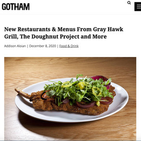 New Restaurants & Menus From Gray Hawk Grill, The Doughnut Project and More