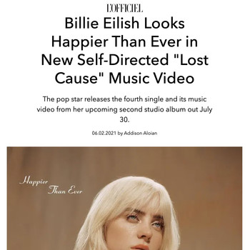 """Billie Eilish Looks Happier Than Ever in New Self-Directed """"Lost Cause"""" Music Video"""
