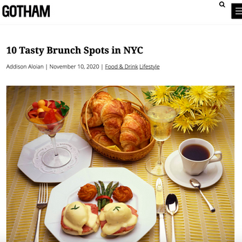 10 Tasty Brunch Spots in NYC