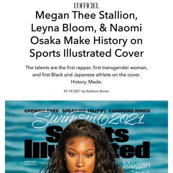 Megan Thee Stallion, Leyna Bloom, & Naomi Osaka Make History on Sports Illustrated Cover