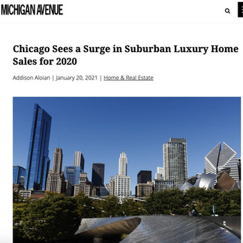 Chicago Sees a Surge in Suburban Luxury Home Sales for 2020