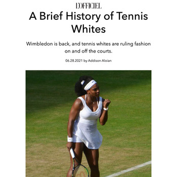 A Brief History of Tennis Whites