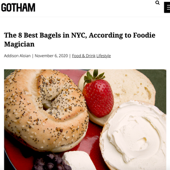 The 8 Best Bagels in NYC, According to Foodie Magician