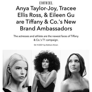 Anya Taylor-Joy, Tracee Ellis Ross, & Eileen Gu are Tiffany & Co.'s New Brand Ambassadors