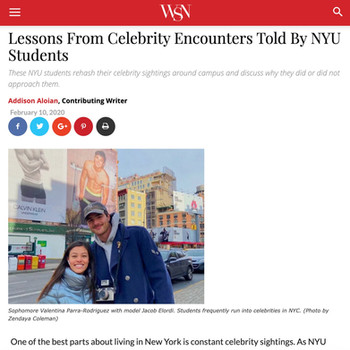 Lessons From Celebrity Encounters Told By NYU Students