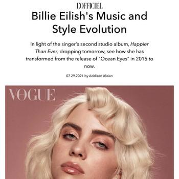 Billie Eilish's Music and Style Evolution