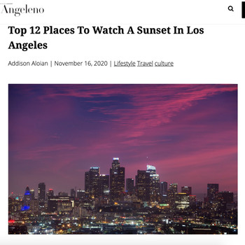 Top 12 Places To Watch A Sunset In Los Angeles