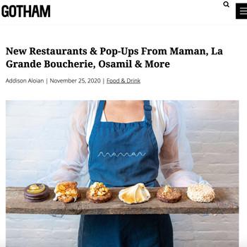 New Restaurants & Pop-Ups From Maman, La Grande Boucherie, Osamil & More