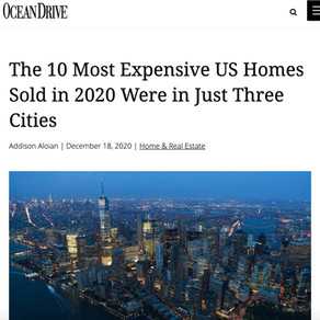 The 10 Most Expensive US Homes Sold in 2020 Were in Just Three Cities