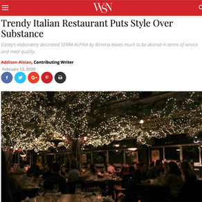 Trendy Italian Restaurant Puts Style Over Substance