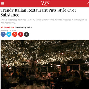 Trendy Italian Restaurant Puts Style Over Substance