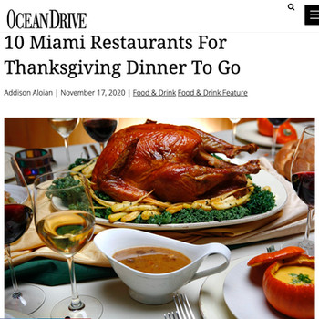 10 Miami Restaurants For Thanksgiving Dinner To Go