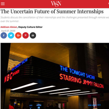 The Uncertain Future of Summer Internships