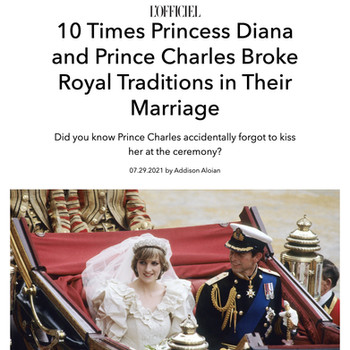 10 Times Princess Diana and Prince Charles Broke Royal Traditions in Their Marriage