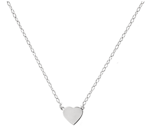 TRHG BABY HEART NECKLACE (16 INCH WHITE GOLD)