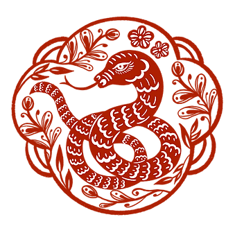 —Pngtree—snake year border window grille
