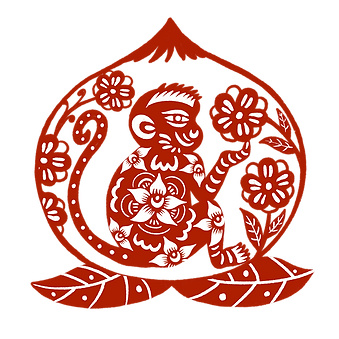 —Pngtree—year of the monkey peach_554619
